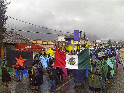 Zapatistas Emerge from the Mist in Silence