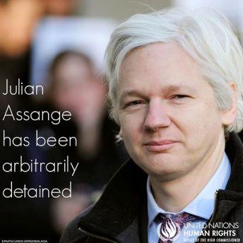 assange arbitrarily detained