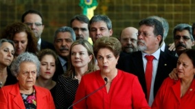 dilma speaking from the alvorada palace