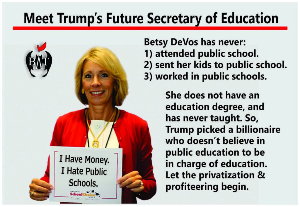 Betsy Devos Is No Horace Mann Column >> Why Is Pbs Airing Right Wing Sponsored School Privatization